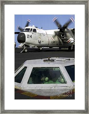 A C-2a Greyhound Prepares For Launch Framed Print by Stocktrek Images