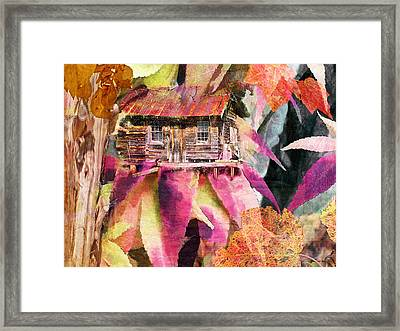 A Cabin In The Woods - A Novel Framed Print by Larry Bishop