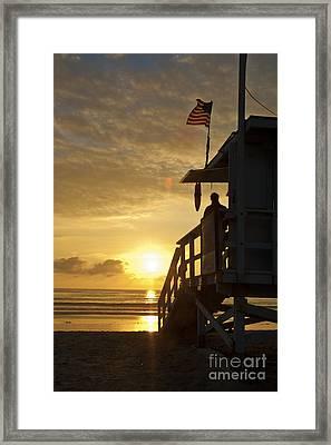 A California Sunset Framed Print