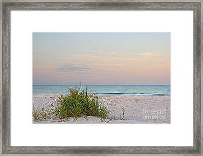 Framed Print featuring the photograph A Calm  Evening View by Joan McArthur