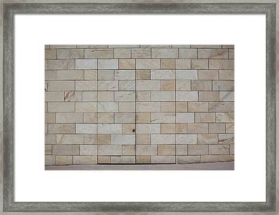 A Camouflaged Entrance To A Building Framed Print by Halfdark