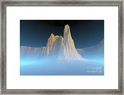 A Canyon Mountain Is Surrounded Framed Print by Corey Ford
