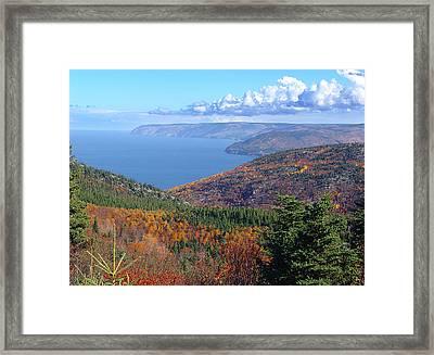 A Cape Breton Autumn Framed Print by George Cousins