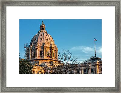 Framed Print featuring the photograph A Capitol Evening by Tom Gort