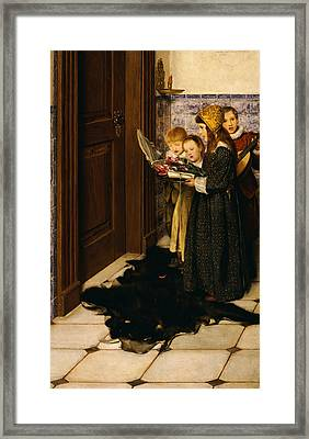 A Carol Framed Print by Laura Theresa Alma-Tadema