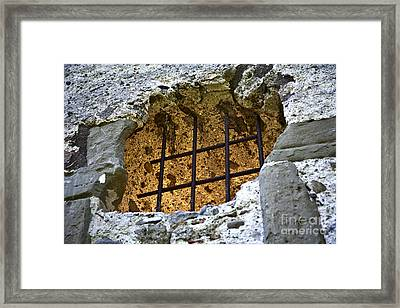A Castle Falls Into Ruin Framed Print