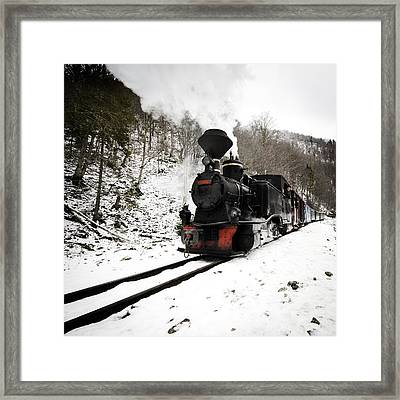 A Century Train Framed Print by Ovidiu Bastea
