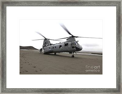 A Ch-46 Sea Knight Helicopter Framed Print