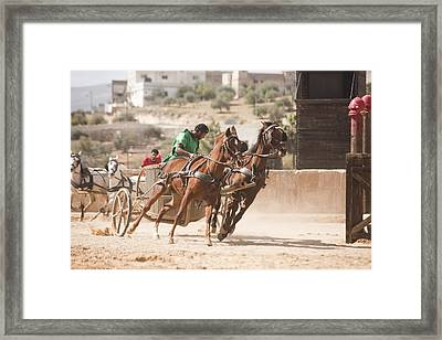 A Chariot Race In The Hippodrome Framed Print by Taylor S. Kennedy