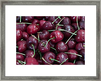 Framed Print featuring the photograph A Cherry Bunch by Sherry Hallemeier