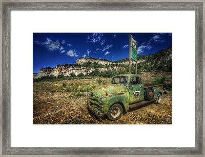 A Chevy And Checkerboard Mesa Framed Print