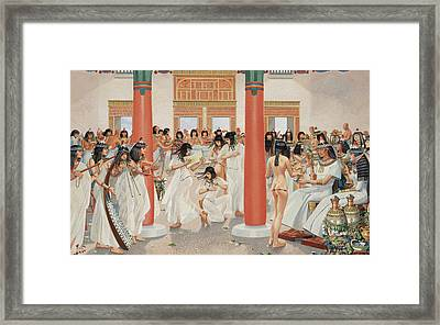 A Chief Priest Gives A Formal Banquet Framed Print by H.M. Herget