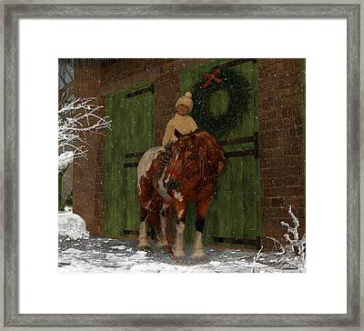 A Christmas Pony Framed Print by Heather Douglas