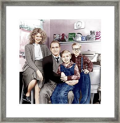 A Christmas Story, From Left Melinda Framed Print by Everett