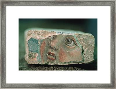 A Chunk Of Fresco About Six Inches Wide Framed Print by O. Louis Mazzatenta