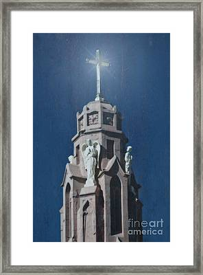 A Church Tower Framed Print