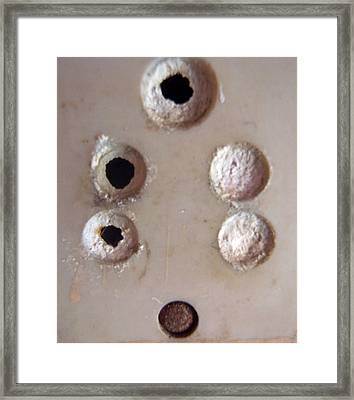 Framed Print featuring the photograph A Clogged Up 5 Point Electric Plug Point by Ashish Agarwal