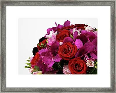 A Close-up Of A Bouquet Of Flowers Framed Print