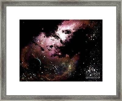 A Cluster Of Bright Young Stars Tear Framed Print by Brian Christensen
