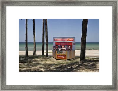 A Coffee Bar And Drinks Kiosk Framed Print