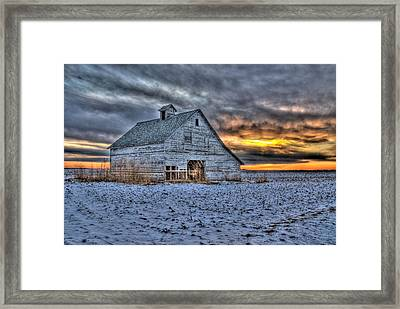 A Cold Evening Framed Print
