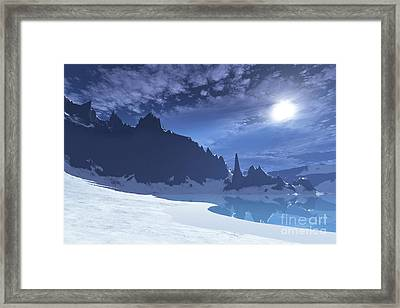 A Cold Winter Night On This Beach Framed Print by Corey Ford