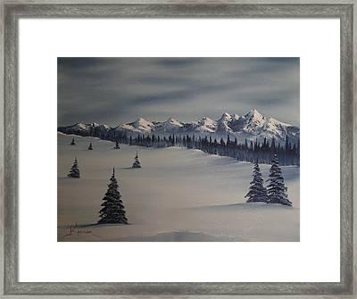A Cold Winter Slope Framed Print by John Koehler