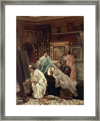 A Collector Of Pictures At The Time Of Augustus Framed Print