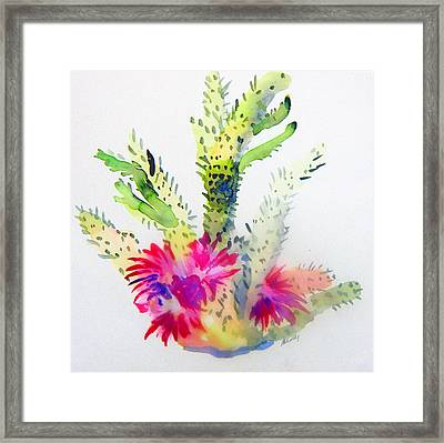 A Colorful Cactus Framed Print