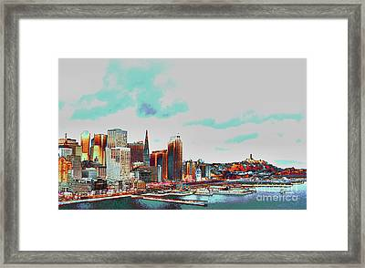 A Colorful San Francisco Framed Print