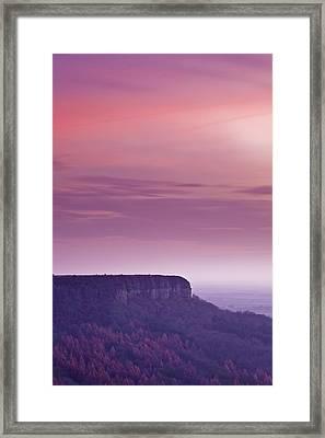 A Colourful Sunset Over Sutton Bank Framed Print by Julian Elliott Ethereal Light