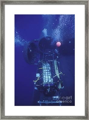 A Combat Rubber Raiding Craft Tied Framed Print