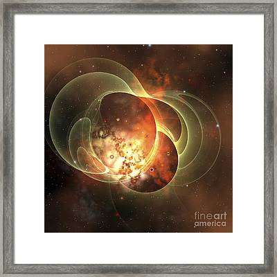 A Constellation Sits Inside Encircling Framed Print by Corey Ford