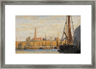 A Continental Harbor Framed Print by William Lionel Wyllie