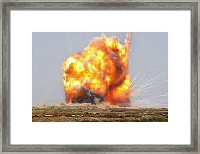 A Controlled Detonation Of Captured Framed Print by Everett