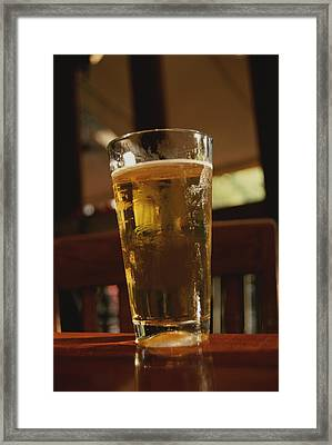 A Cool Glass Of Amber Beer Framed Print by Stephen St. John