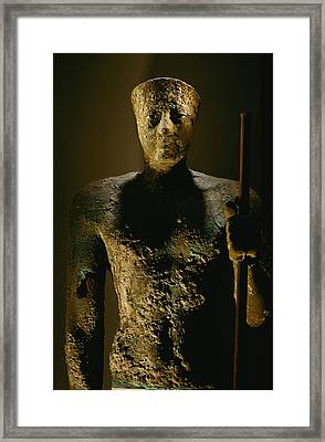 A Copper Statue Of Pepi I, The Last Framed Print by Kenneth Garrett