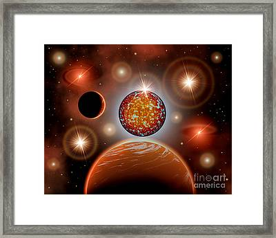 A Cosmic Place Within A Nebula Where Framed Print by Mark Stevenson