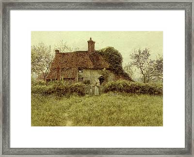 A Cottage At Pinner Middlesex Framed Print by Helen Allingham