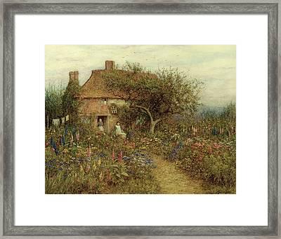 A Cottage Near Brook Witley Surrey Framed Print by Helen Allingham