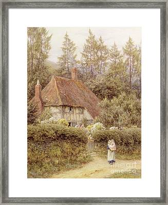 A Cottage Near Haslemere Framed Print