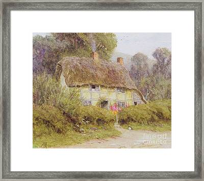 A Country Cottage Framed Print by Helen Allingham