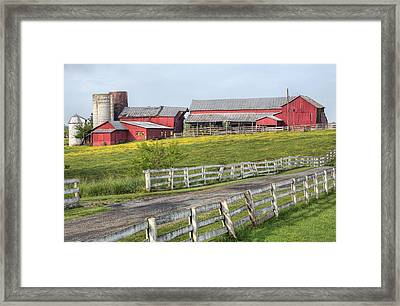 A Country Driveway Framed Print by JC Findley