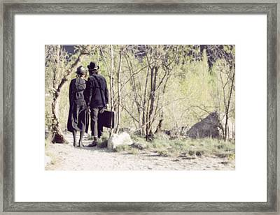 A Couple In The Woods Framed Print by Joana Kruse