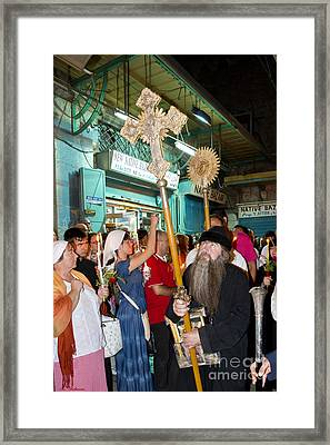 A Crusader Framed Print by Arik Baltinester