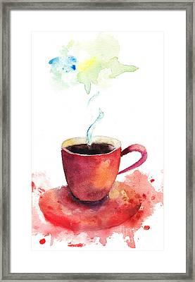 A Cup Of Coffee Framed Print by Regina Jershova