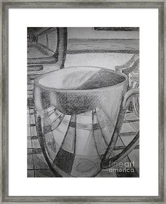A Cup Of Reflections Framed Print