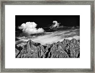 A Curl In The Sky Framed Print