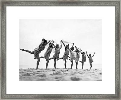 A Dance To The Morning Sun Framed Print by Underwood Archives