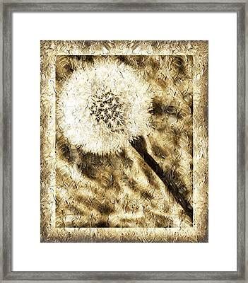A Dandy Glow Framed Print by Andee Design